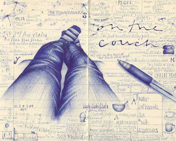 Рисунки на тетради своими руками