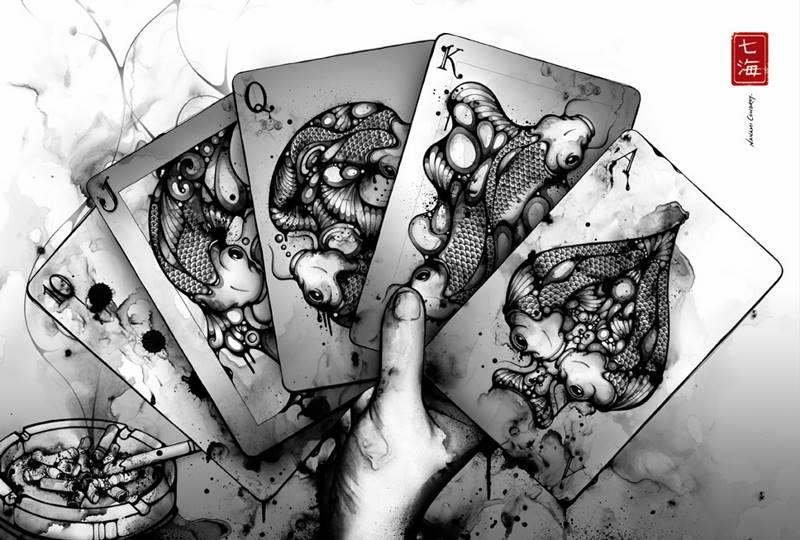 чёрно белые рисунки фото