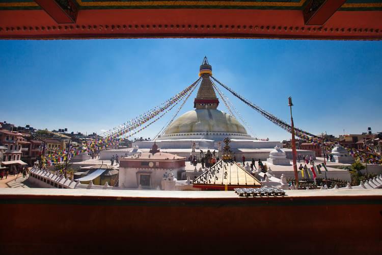 Boudhanath Stupa in Kathmandu.