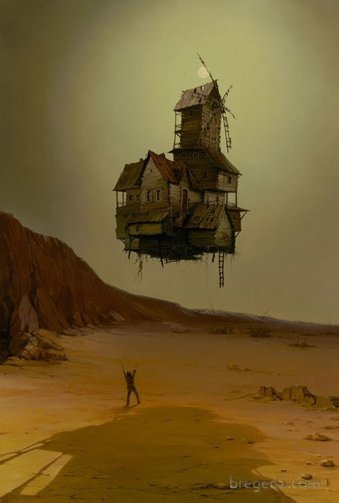 The Night Flight: Surrealism Art by Surrealist Victor Bregeda