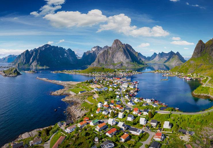 Норвегия с высоты птичьего полета